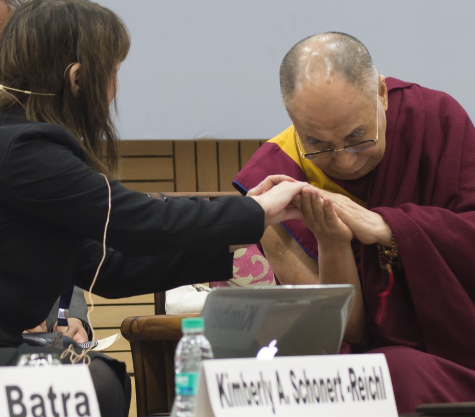 Dr. Schonert-Reichl Invited to Present to the Dalai Lama at the Science, Ethics and Education Conference in India