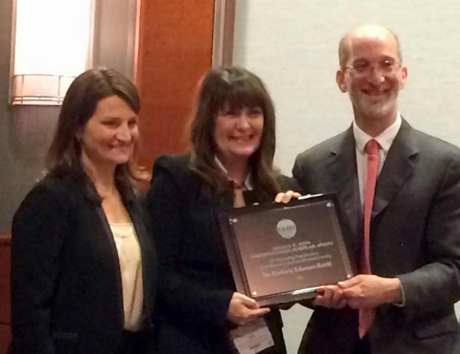 Dr. Schonert-Reichl Receives the Joseph E. Zins Award for Action in Research in SEL